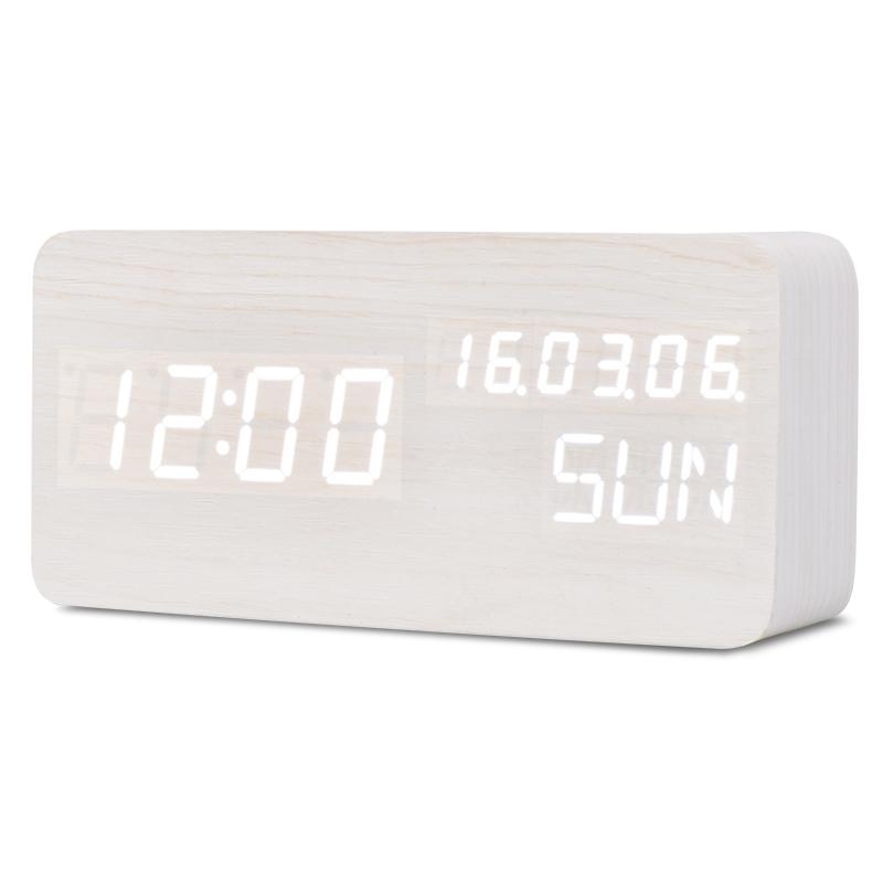 TXL Белый diy 6 digital led electronic clock kit 9v 12v at89c2051