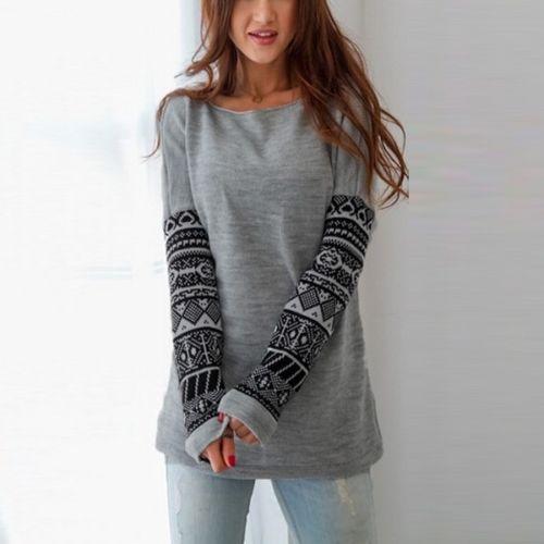 Женская команда шею длинными рукавами свитер случайных максимум свитер максимум CANIS Номер М фото