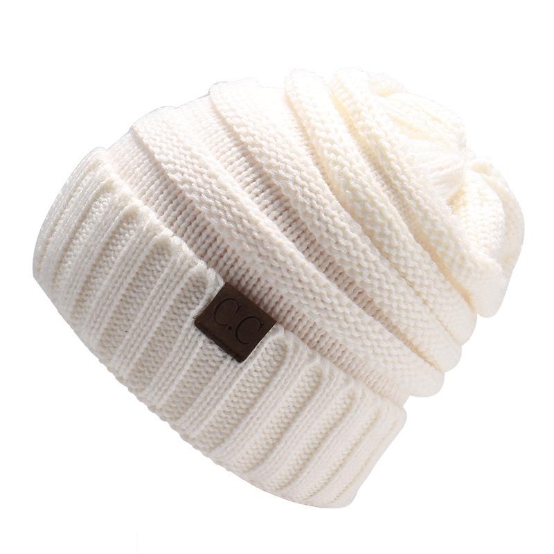 MEGIR Белый the new bonnet embroidery hat men s winter beanie man skullies knitted wool beanies men winter hats hip hop caps autumn gorros