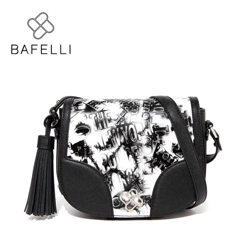 BAFELLI черный bafei li bafelli бамбук сумка ретро седло мешок плеча рука сумка черная ba1 8h0107
