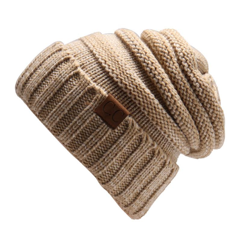 MEGIR Хаки the new bonnet embroidery hat men s winter beanie man skullies knitted wool beanies men winter hats hip hop caps autumn gorros