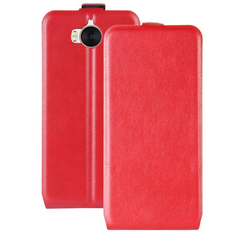 GANGXUN Red gangxun huawei y5 ii кожа pu кожаный флип чехол для карт памяти для huawei y5 2 huawei honor play 5