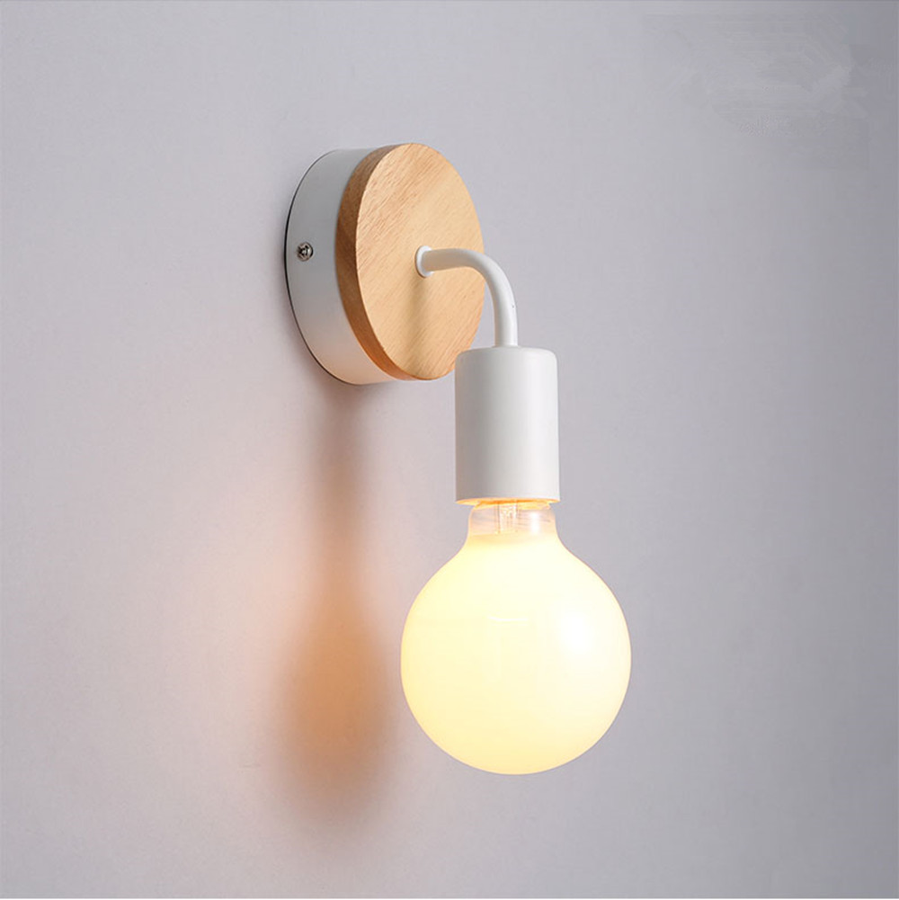 BOKT 8w 10w 12w nordic minimlist acrylic wall lamp fixture white led modern wood wall light bedroom bedside wall sconce lighting w279
