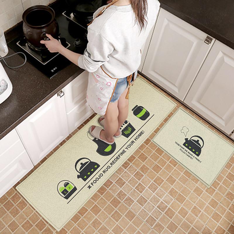 JD Коллекция Кухня - часть 40 40 60 120 дефолт богатый рейтинг foojo кухня моющийся нескользящие коврики для вытирания ног 45 120см черный фон с синими цветами