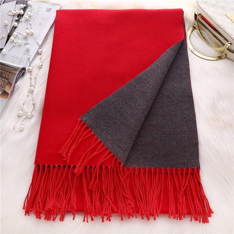 MEGIR Красный 175cm woolly boolly шарф