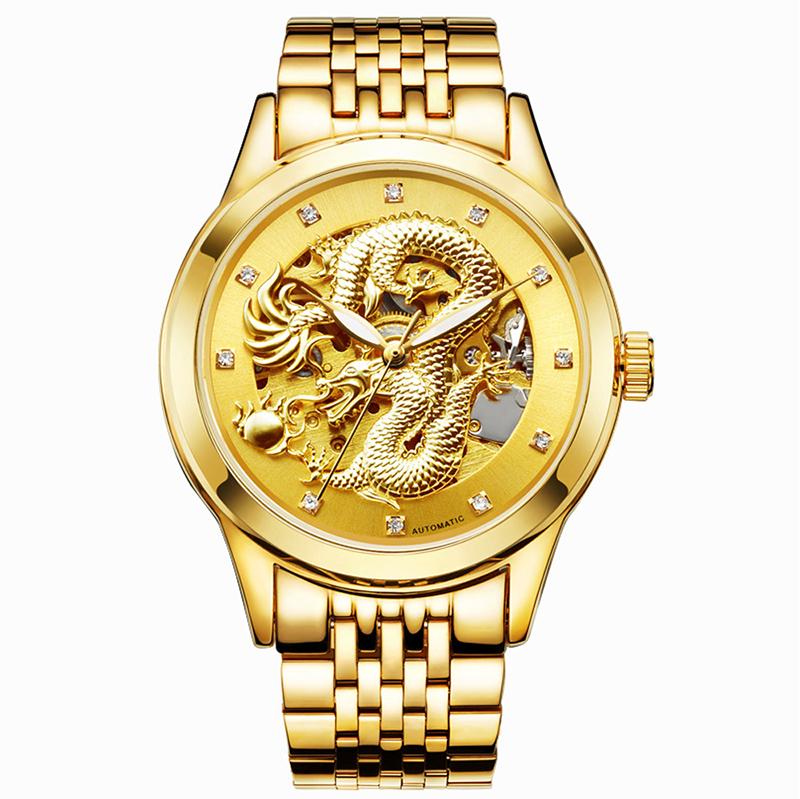 MEGIR Белая тарелка кожаная ремень мужские часы золотые часы