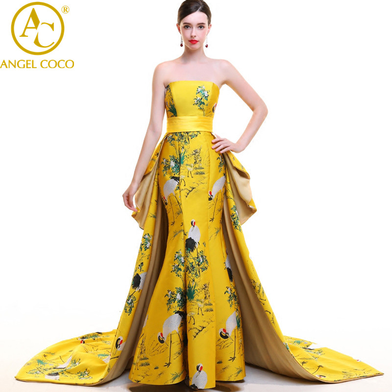 ANGEL COCO 6XL sexy great gatsby women china mermaid evening dress 2017 backless high quality gown саудовская аравия дубай abaya moroccan kaftan