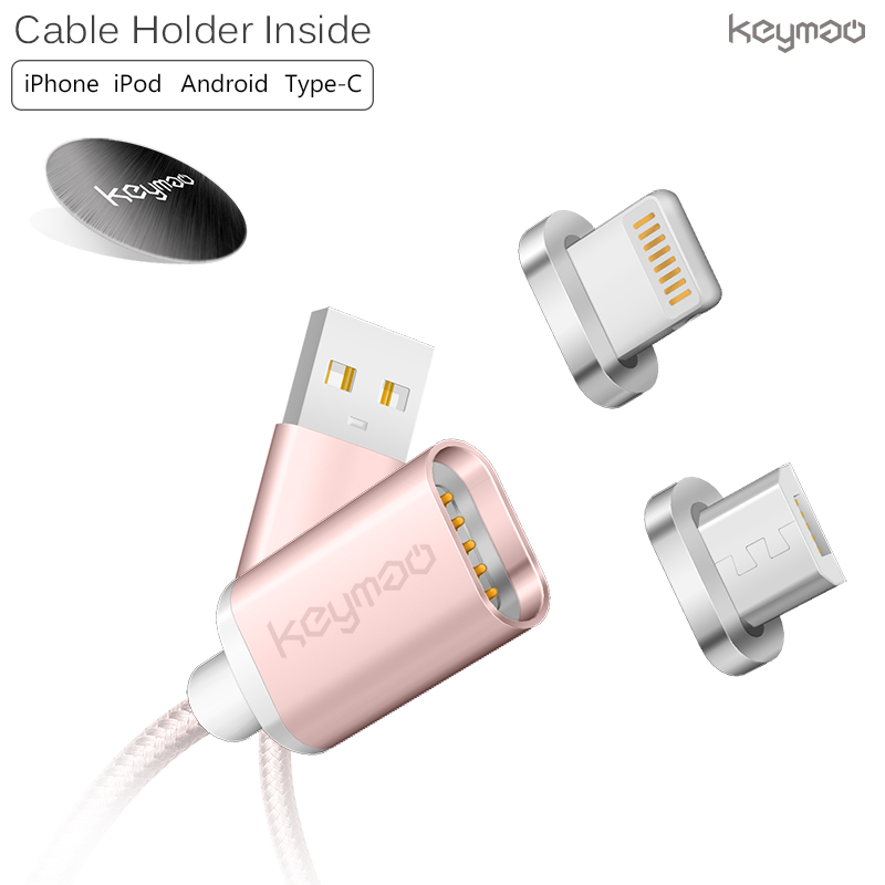 keymao Розовый цвет keymao magnetic usb charging cable for android