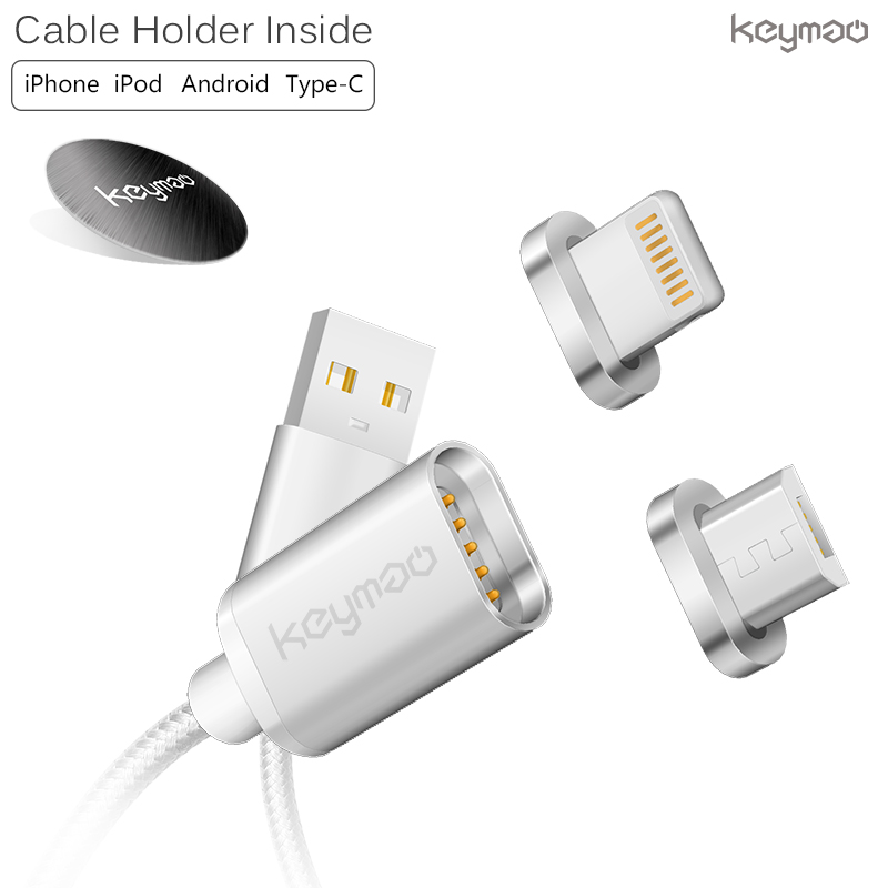 keymao Серебристый цвет keymao magnetic usb charging cable for android