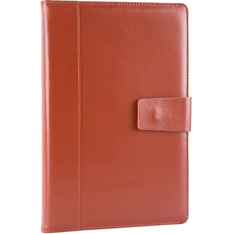 JD Коллекция коричневый 16k обширный guangbo 16k96 чжан бизнес кожаного ноутбук ноутбук канцелярского ноутбук атмосферный магнитные дебетовые коричневый gbp16734