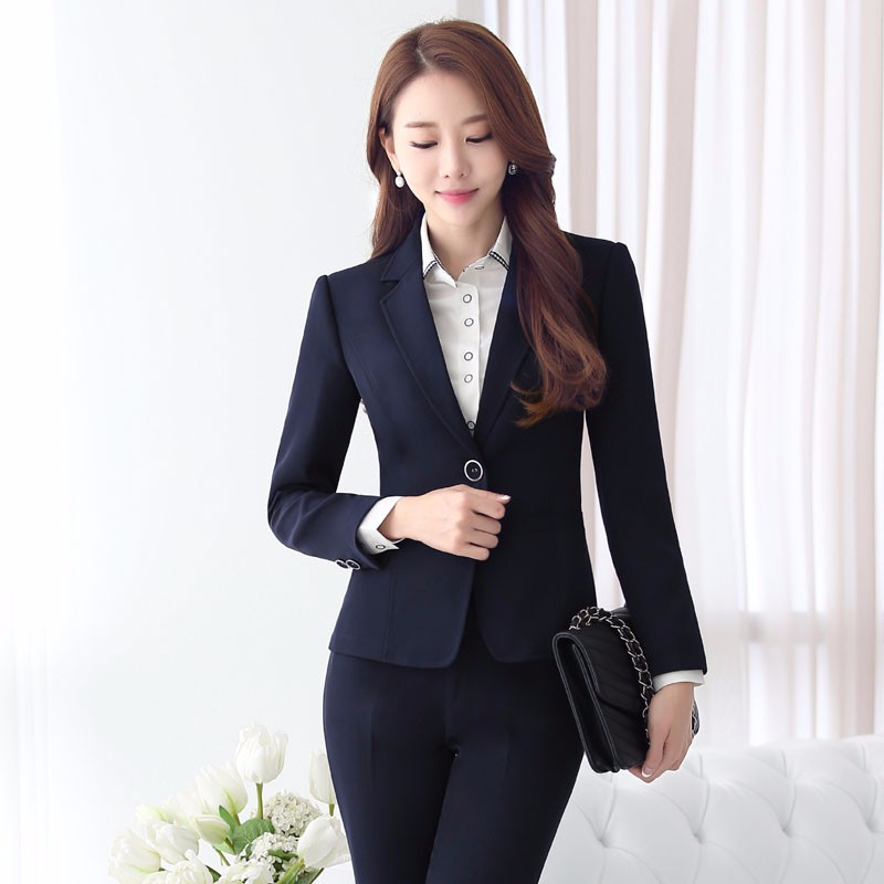 U&JINLY темно - синий Номер S formal uniform design professional long sleeve autumn winter blazers ladies jackets coat female tops blaser outwear work wear