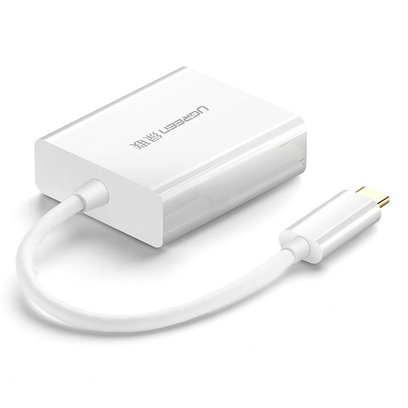 JD Коллекция Белый от Type-C до HDMI переходник capshi type c hdmi конвертер usb c3 1 к разъему адаптера hd кабель hdmi головки адаптированного apple tv проектор подключенный macbook