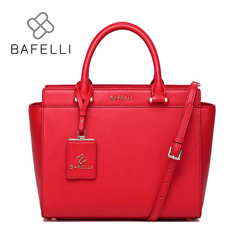 BAFELLI Red bafei li bafelli бамбук сумка ретро седло мешок плеча рука сумка черная ba1 8h0107