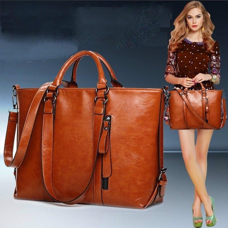 MEGIR Темно-коричневый женщины pu кожа сумочкакожаные сумки messenge