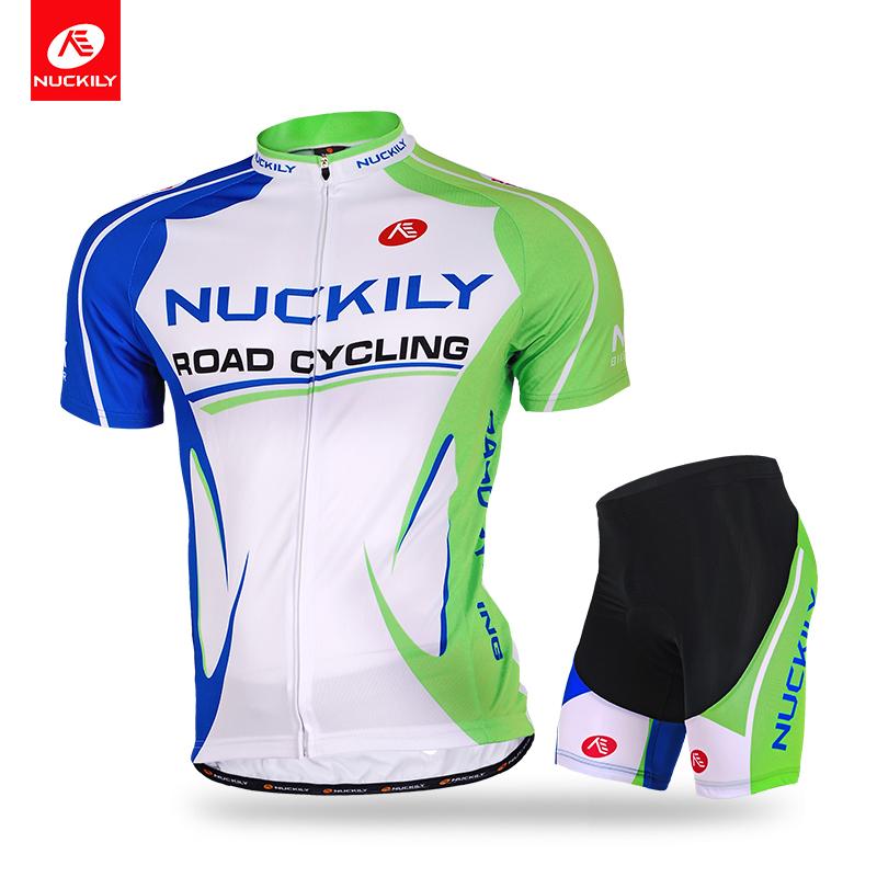 NUCKILY Зеленый M nuckily велосипед езда ss пара природа зеленый велосипед джерси набор горный велосипед одежда