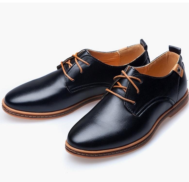 MEGIR Чёрный цвет 9 ярдов 9 кабинета досуг вентиляция мужская обуви туфли мода поп ст