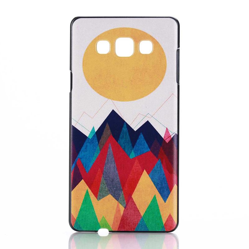 Vanker телефон защита жесткого пластика задняя крышка встроенная кожи чехол для samsung galaxy a5 красное облако