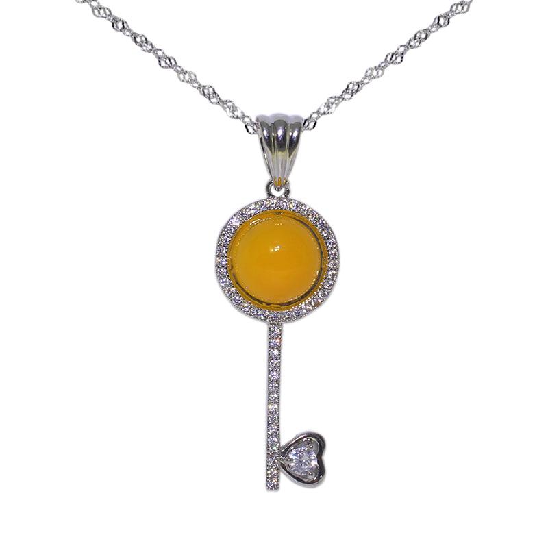 JingTian Yellow Girls jingtian драгоценности агат халцедон кулон благополучно кольцо