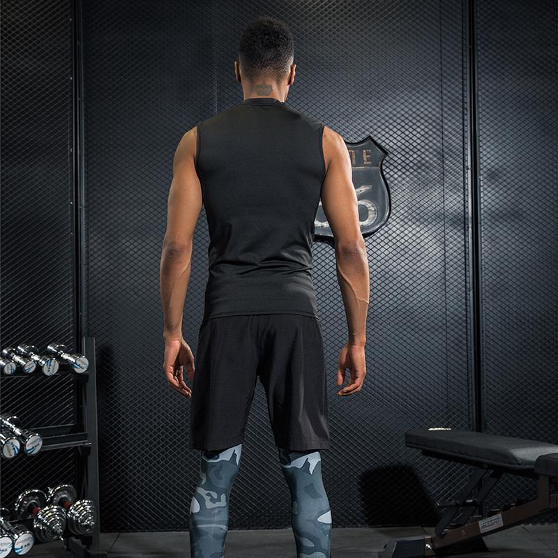ZHENGBAO D109 - короткий BIOD-брюки B5C L 170-175 положительный леопард фитнес костюм костюм мужчины спортзал спортивный костюм в обтяжку сжатие костюм движение жилет костюм бегать