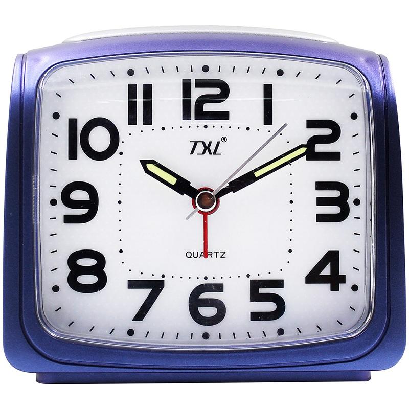 TXL Синий цвет jumbo digital alarm clock large lcd display wall clock huge screen display snooze student room full vision display table clock