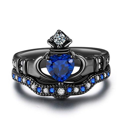 yoursfs черный 10 и больше yoursfs фирменное сердце кольца сердце кольцо комплект для женщин анель включает кольца кольцо обручального кольца падения