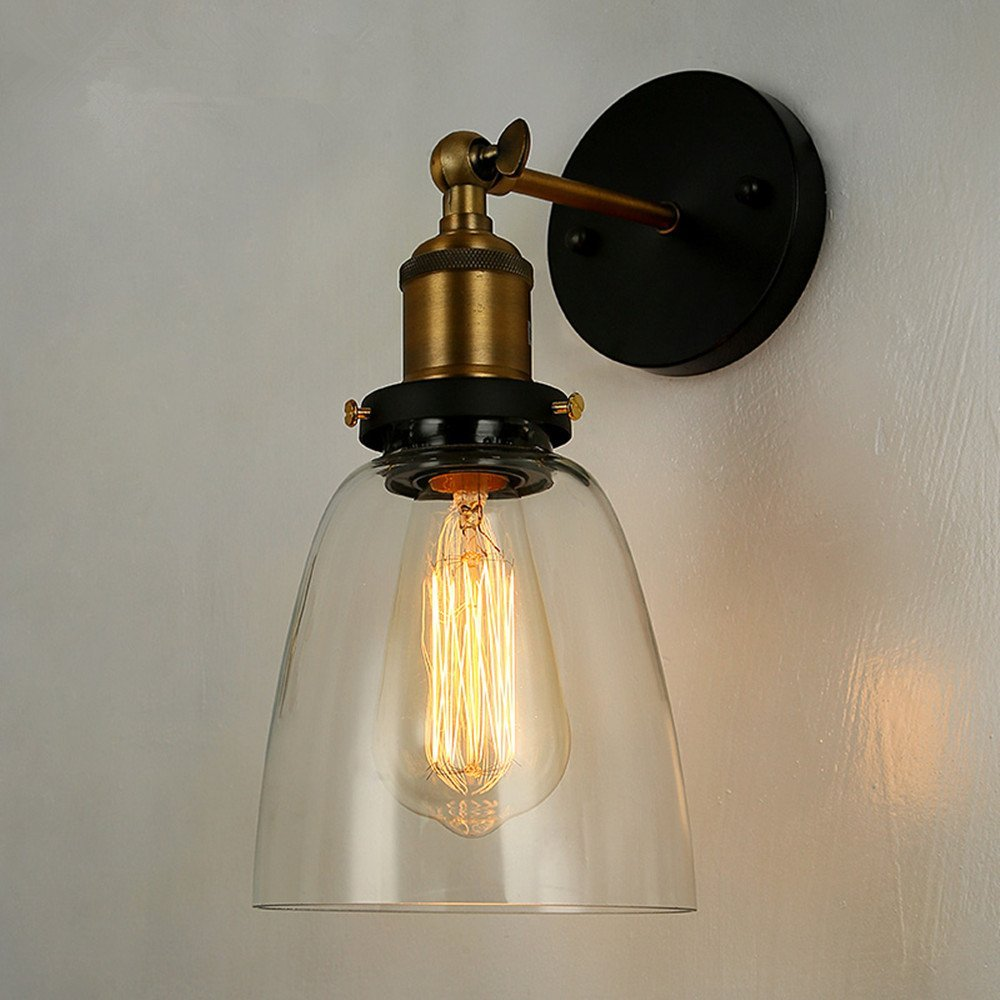 BOKT stylish simplicity vintage wall lamp 110v 220v e27 single head tricolor wall lamps white gold bronze beige light fixtures