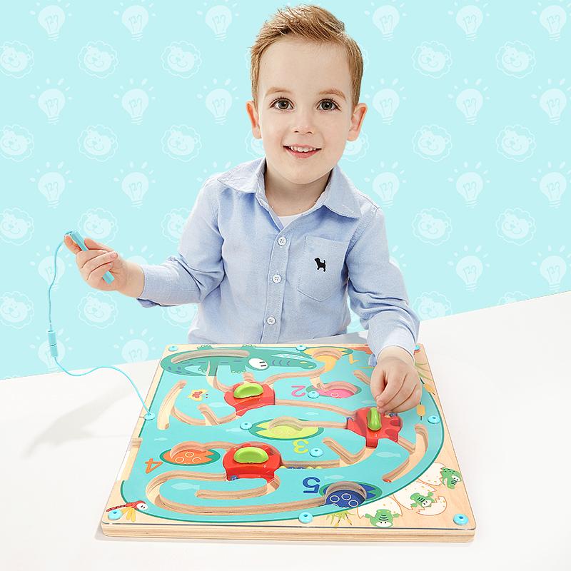 JD Коллекция Крокодил магнитный лабиринт 1 bmw серии детские игрушки автомобиля детские игрушки