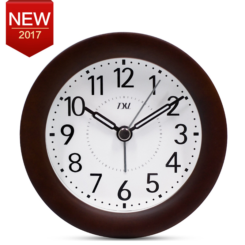 TXL Коричневый цвет jumbo digital alarm clock large lcd display wall clock huge screen display snooze student room full vision display table clock