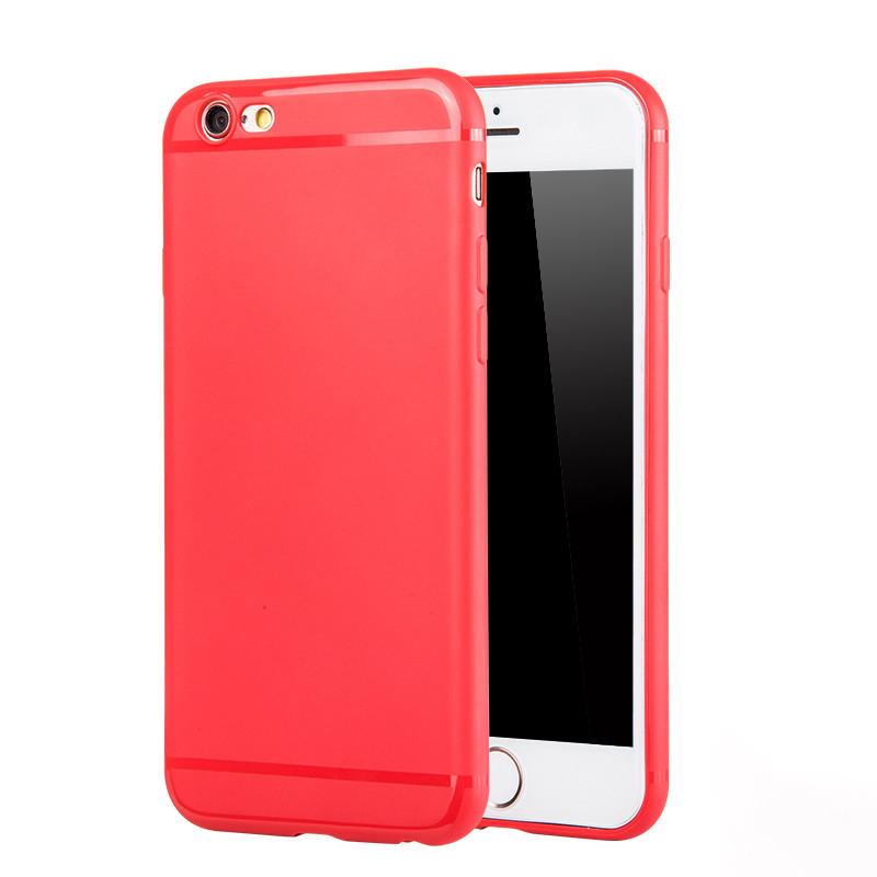 JD Коллекция Красный iPhone 66s смартфон телефон защитный чехол красный
