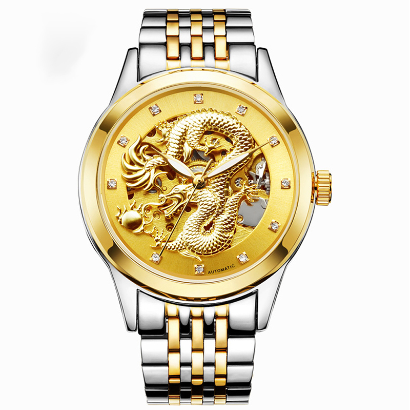 MEGIR Черная тарелка стальная ремень женские часы золотые часы