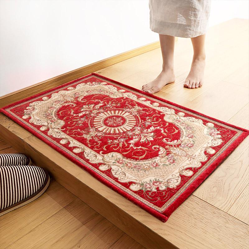 JD Коллекция красный 60 90см большой половик цзяннань лист коврики сплетенный 50 80см синий нескользящие коврики
