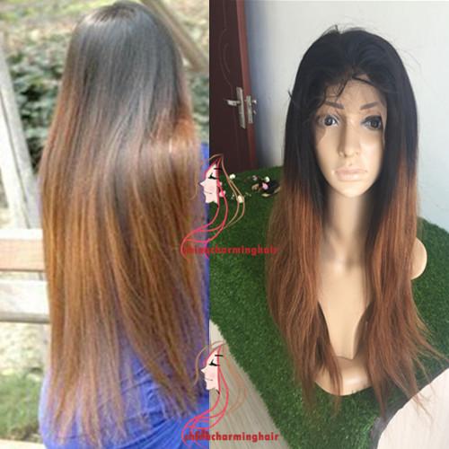 qdlisha T1B  30 18 дюймов парик волос ombre