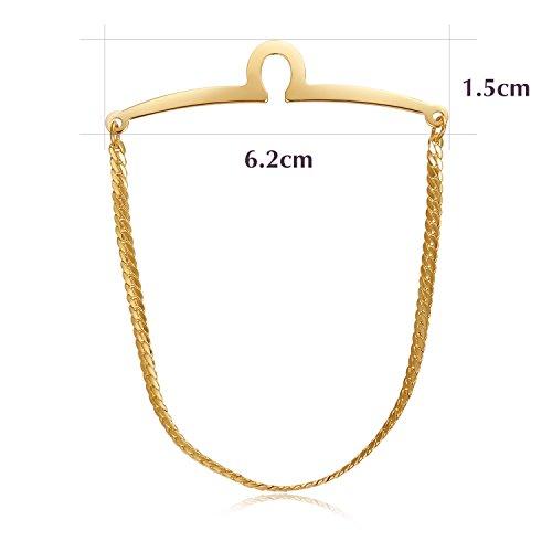yoursfs золотой yoursfs® classic gold color tie фиксированная цепочка для мужчин позолоченные линк цепочка для связывания с цепочкой