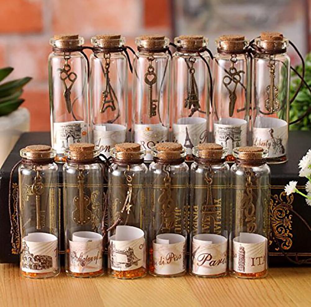Ретро пожеланная бутылка мир Счастливая бутылка маленькая корковая бутылка 12пк mooncolour фото