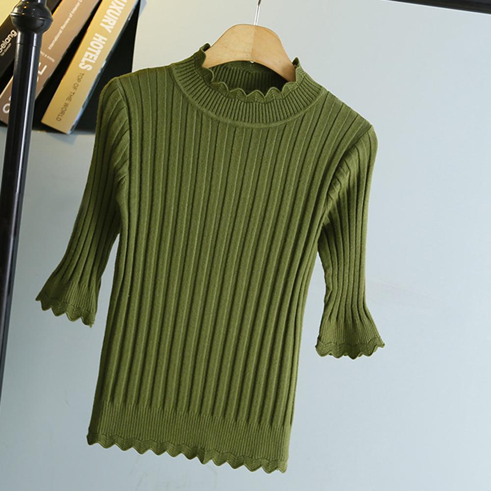 Sesibibi Зеленый стандартный playboy хлопковый мужской свитер трикотажный свитер