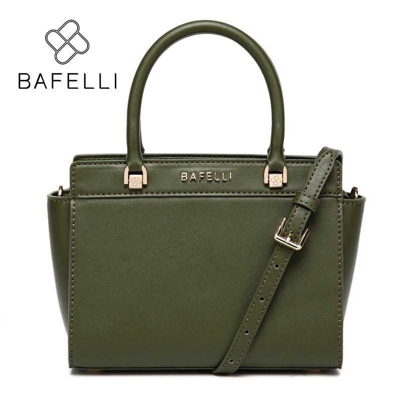 BAFELLI Зеленый bafelli women bags split leather bucket handbag high quality string shoulder bag letter ornaments bolsos mujer red crossbody bag