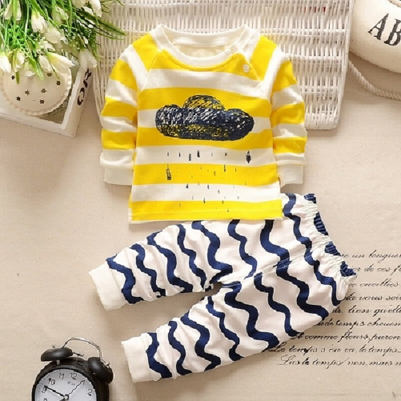 BBYIFU Жёлтый цвет 100 newborn baby boy girl infant warm cotton outfit jumpsuit romper bodysuit clothes