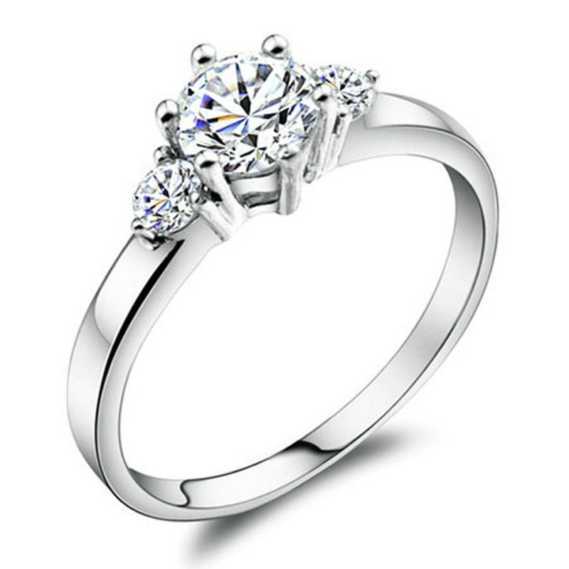 yoursfs Серебряный 6 yoursfs® 18k white gold plated 1 2ct simulated diamond promise rings используйте австрийские ювелирные украшения из кристалла