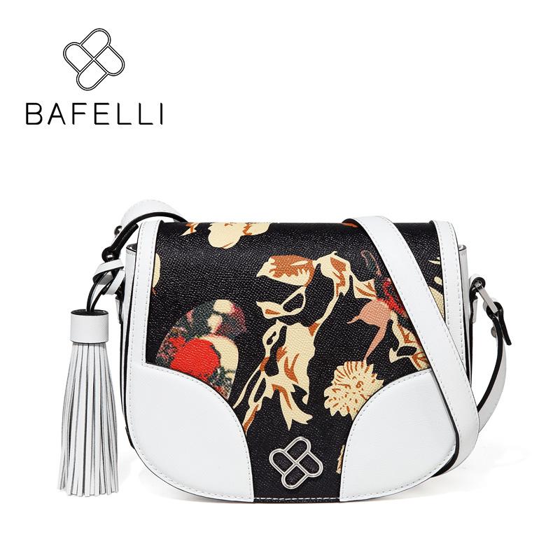 BAFELLI White bafei li bafelli бамбук сумка ретро седло мешок плеча рука сумка черная ba1 8h0107