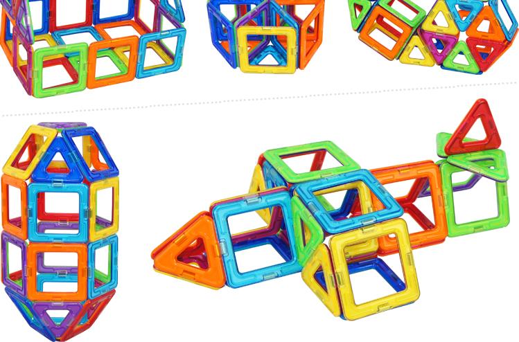 magformers磁力片建构片健构片144片磁性积木儿童益智