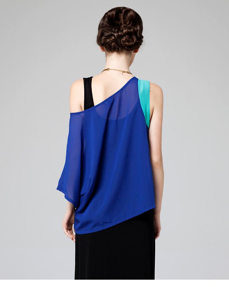 深蓝色一字裙搭配