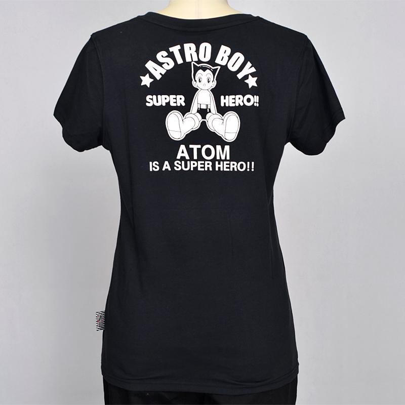 阿童木(astro boy) 女装中性坐姿阿童木短袖圆领t恤 52201042 黑色(d3