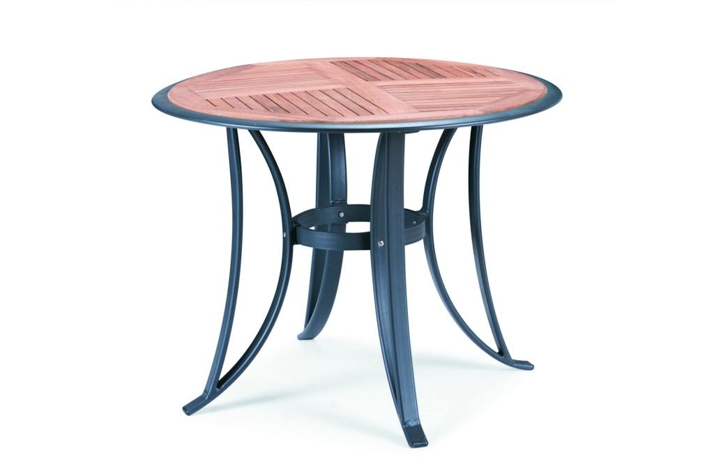 海山 户外阳台 实木圆桌椅子 休闲 组合 五件套 一桌四椅套装 水曲柳