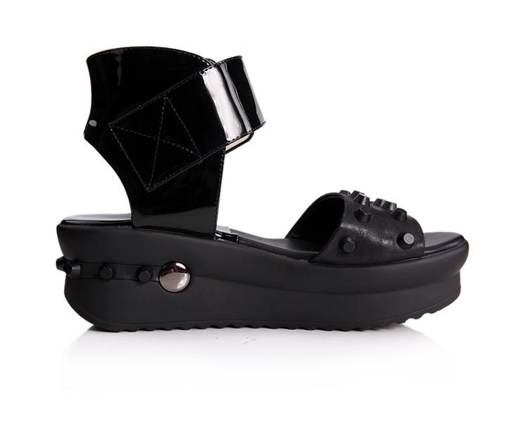 坡跟凉鞋 露趾高跟鞋厚底松糕鞋女凉鞋