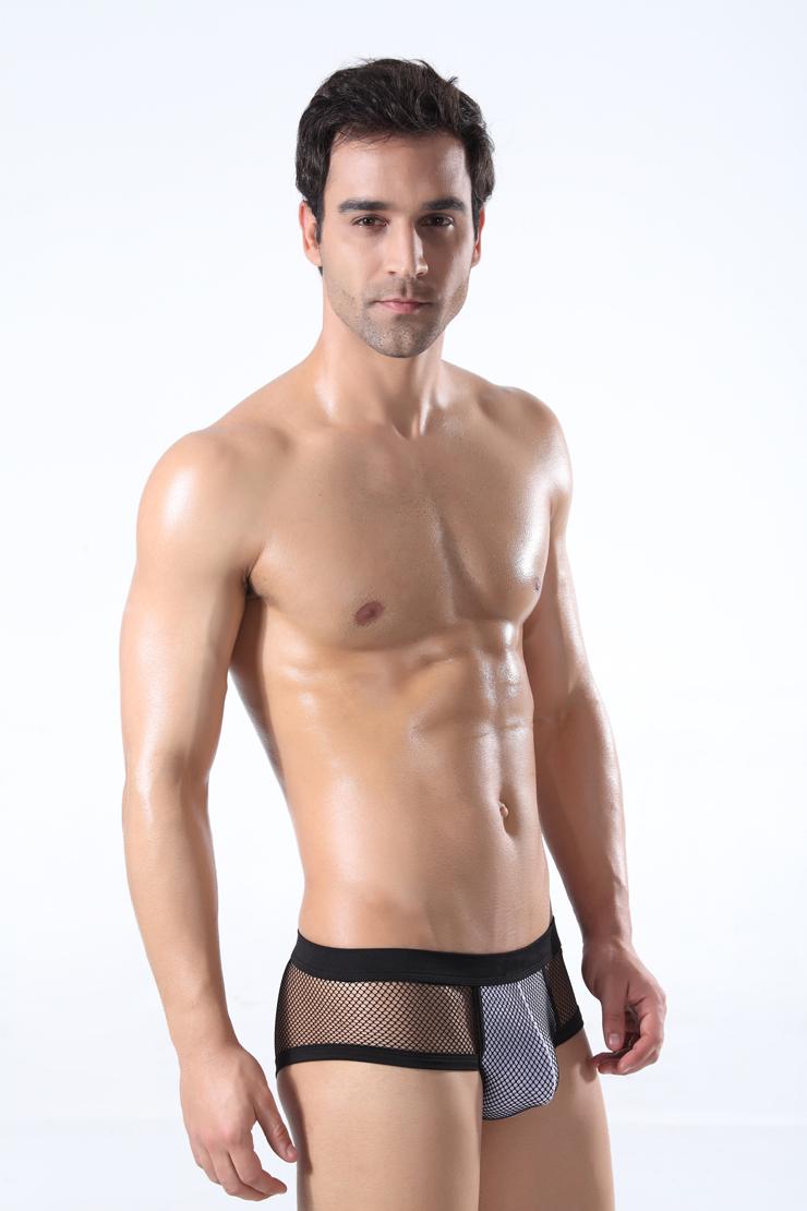 性感透明大网眼男士内裤