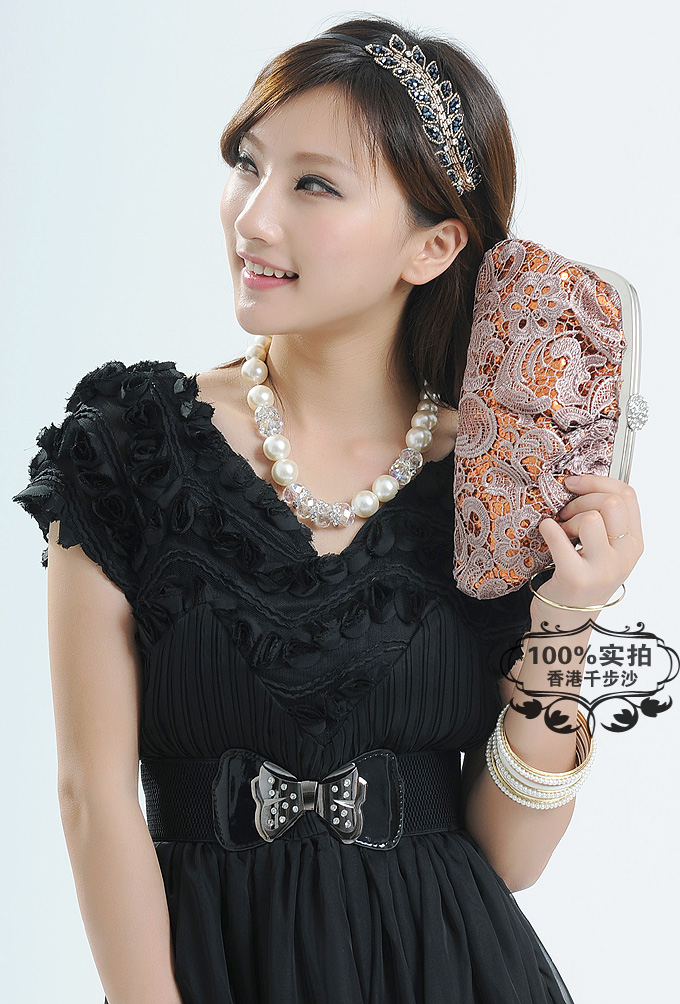 2013夏季新款女式包韩版女士包包复古蕾丝包手拿包包