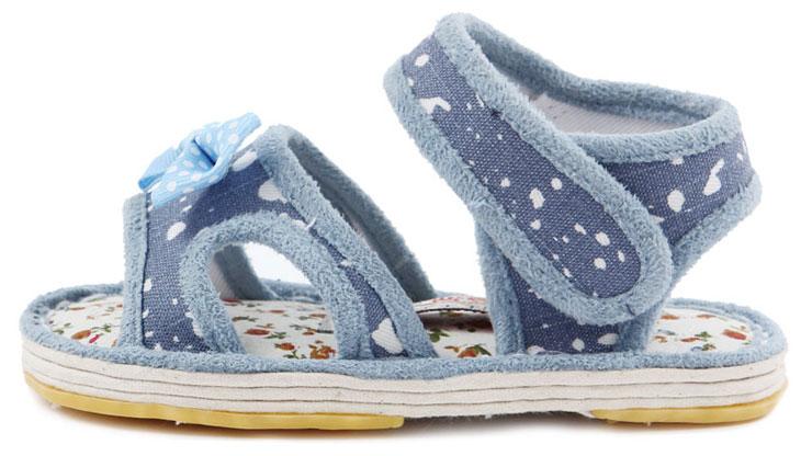 宝宝婴幼儿儿童手工布凉鞋