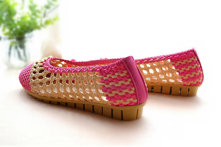 雪儿手工编织凉鞋视频图片