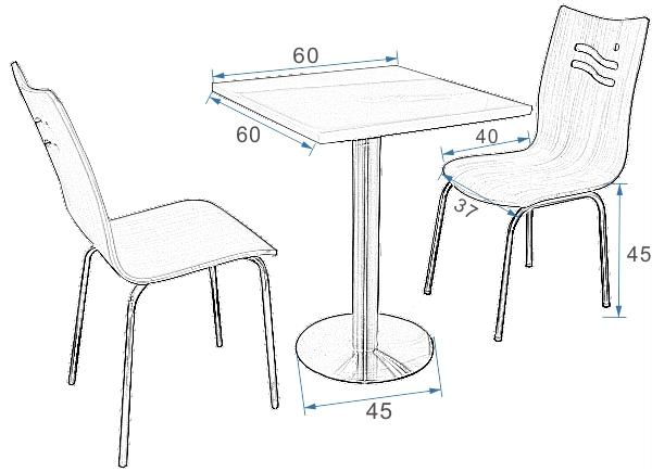手绘桌椅 效果图