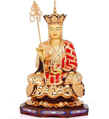 产品相关介绍: 名称:地藏菩萨佛像 材质:纯铜鎏金 尺寸:约直径27cm